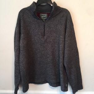 Woolrich Wool Blend Quarter Zip Sweater